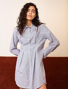 Marilyn Shirt Dress - shirt dresses - dove blue