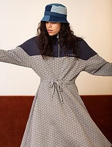 Nanne Dress - do kolan & midi sukienki - light grey melange
