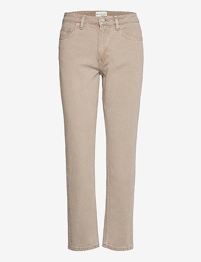 Ava - straight jeans - gray green
