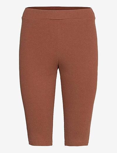 Rosa Rib Shorts - cykelshorts - soil