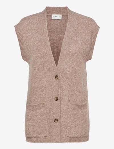 Roxy Vest - knitted vests - major brown