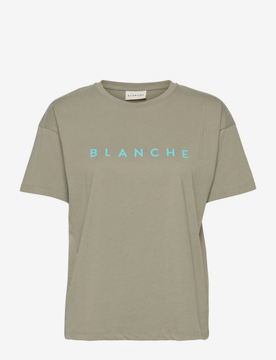 Main Contrast - t-shirts - agave green