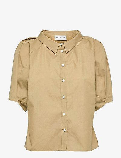 Bianca Shirt - kurzärmlige hemden - gray green