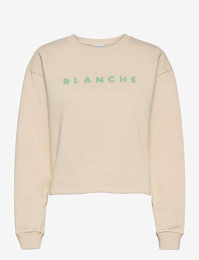 Hella Sweat Shirt - sweatshirts & hoodies - beige