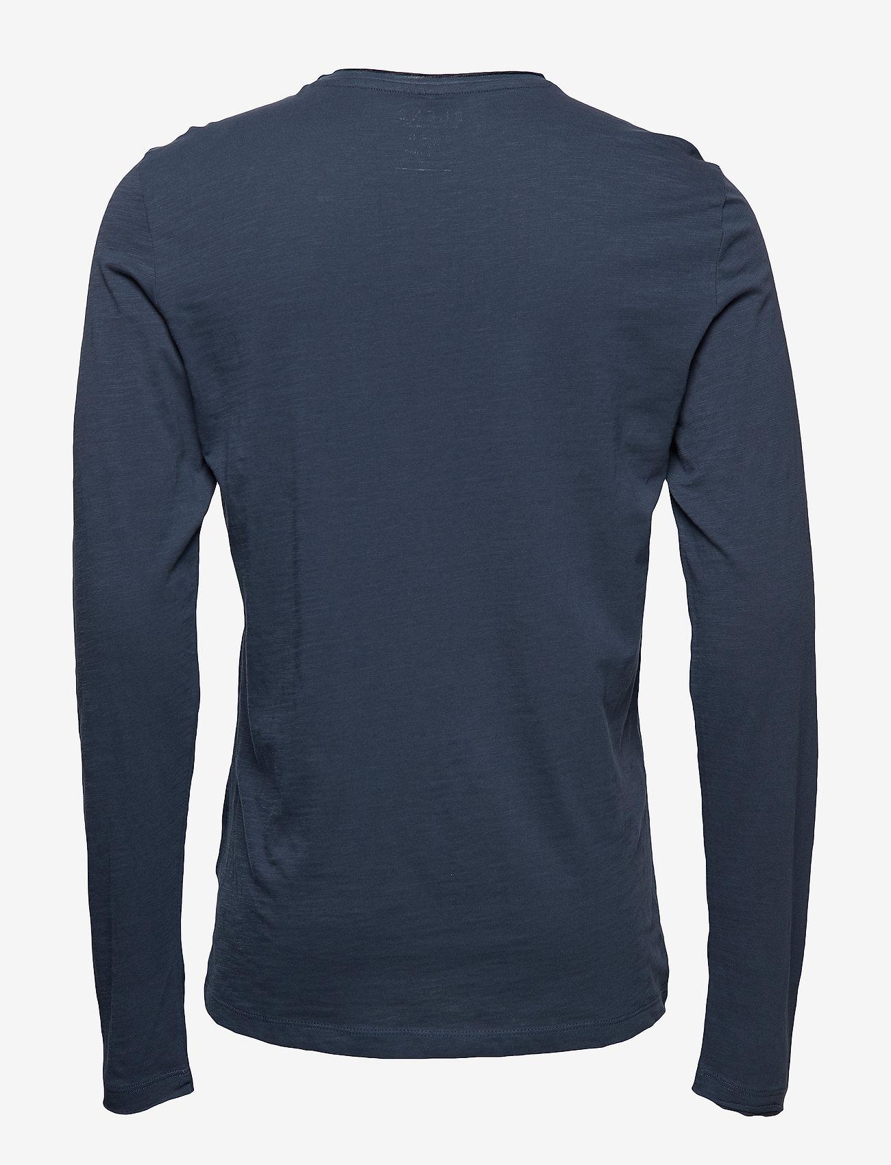 Blend - BHNICOLAI tee l.s. NOOS - basic t-shirts - midnight blue - 1