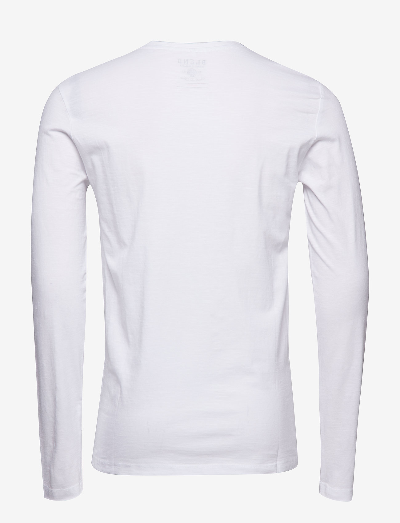Blend - BHNICOLAI tee l.s. NOOS - basic t-shirts - white - 1