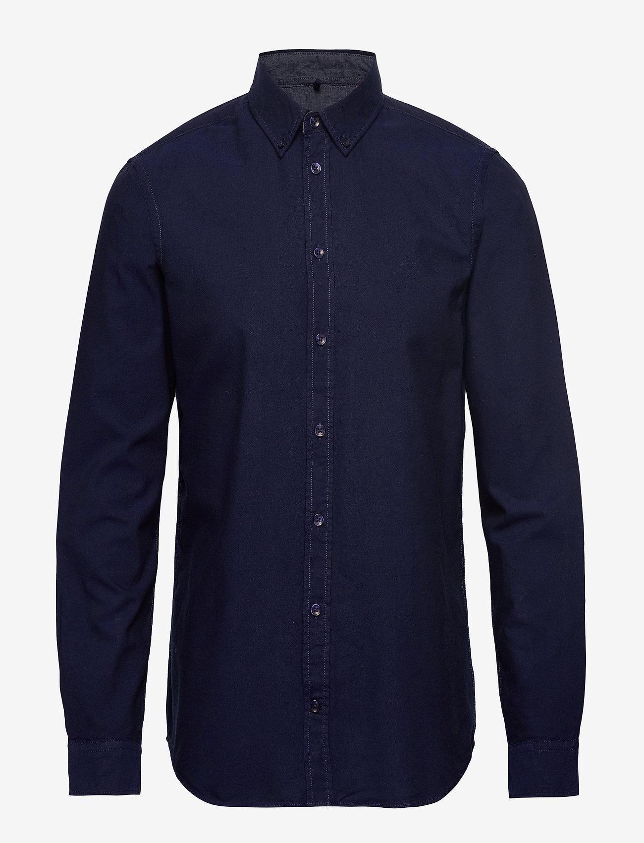 Blend - BHNAIL shirt Slim Fit - peruspaitoja - navy - 0