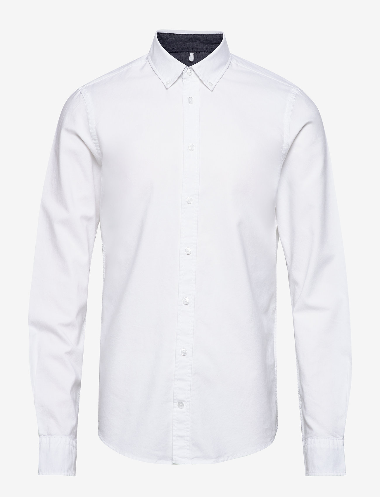 Blend - BHNAIL shirt Slim Fit - peruspaitoja - white - 0