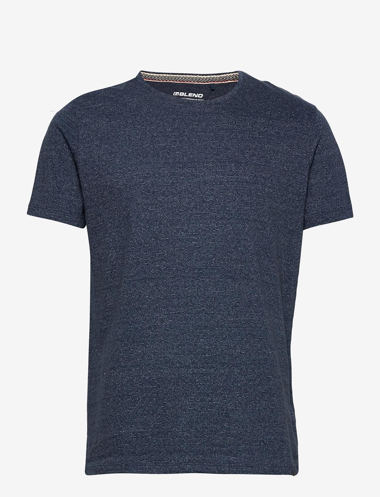 Blend - Tee - basic t-shirts - dark denim - 0