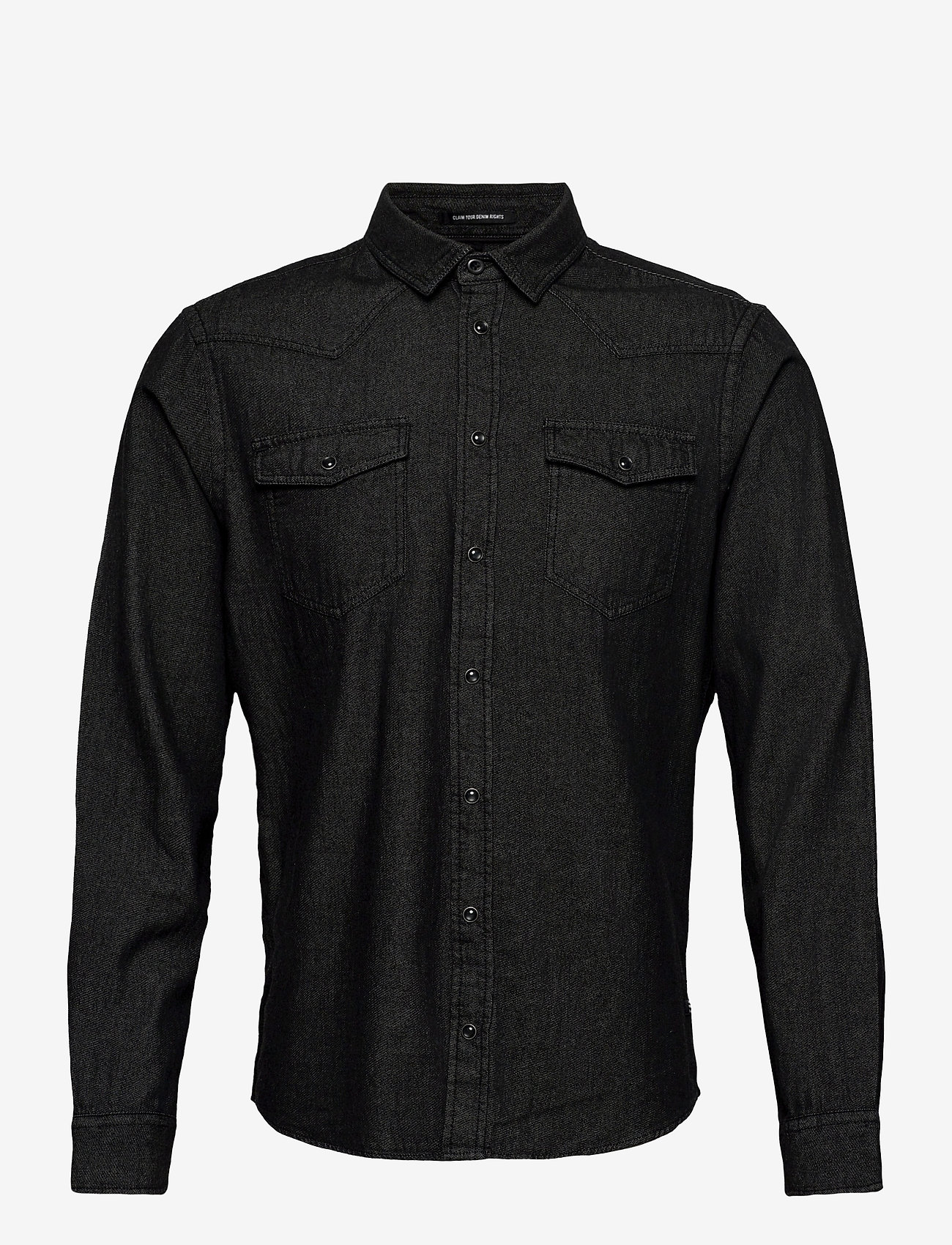 Blend - Shirt - peruspaitoja - denim black - 0