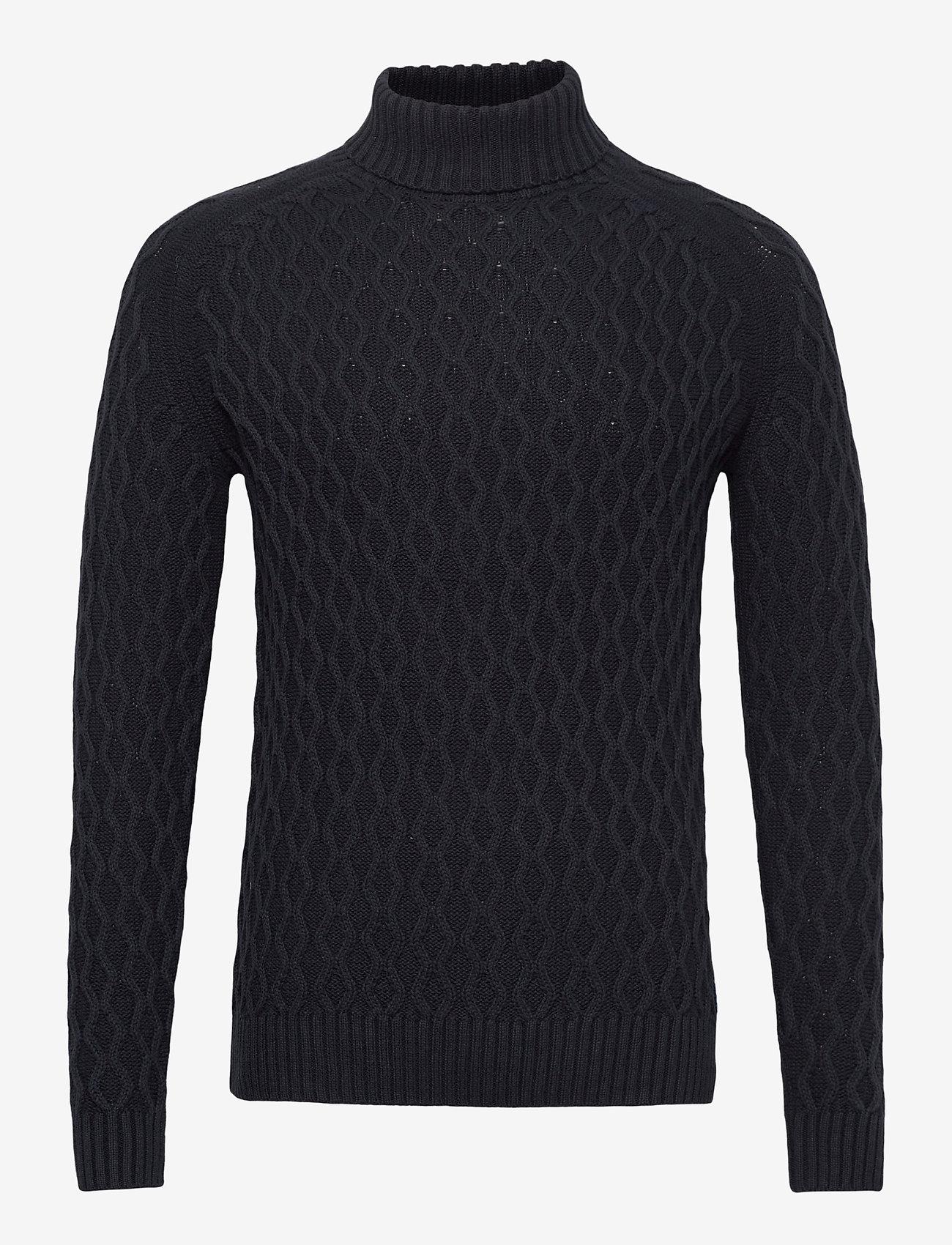Blend - Pullover - basic gebreide truien - dark navy - 0