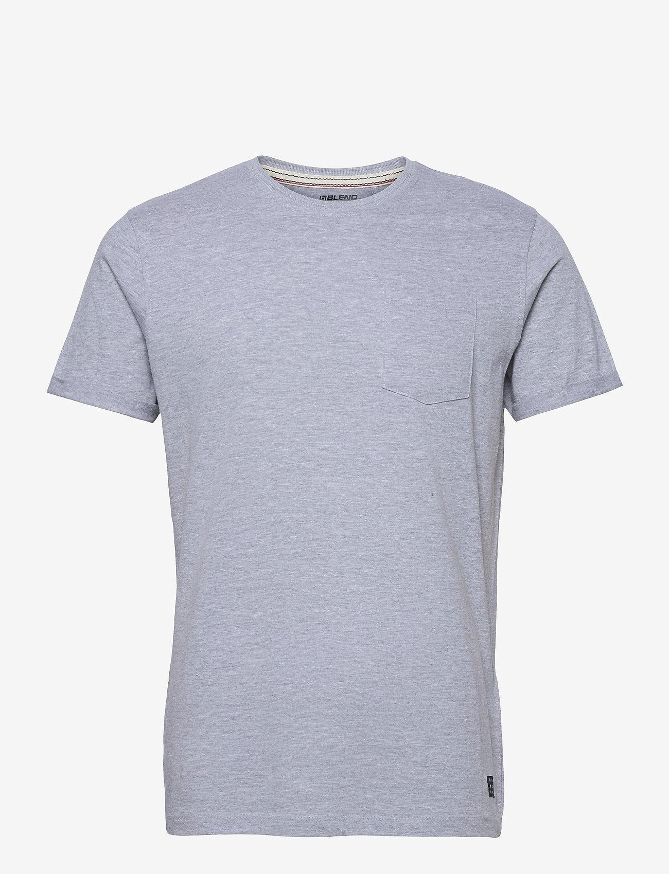 Blend - Tee - Organic - basic t-shirts - stone mix - 0