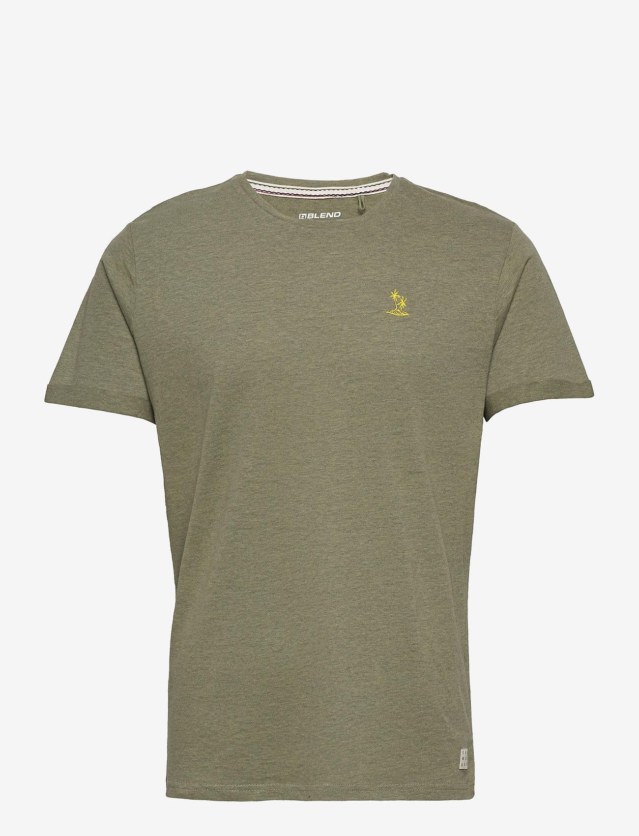 Blend - Tee - t-shirts basiques - oil green - 0