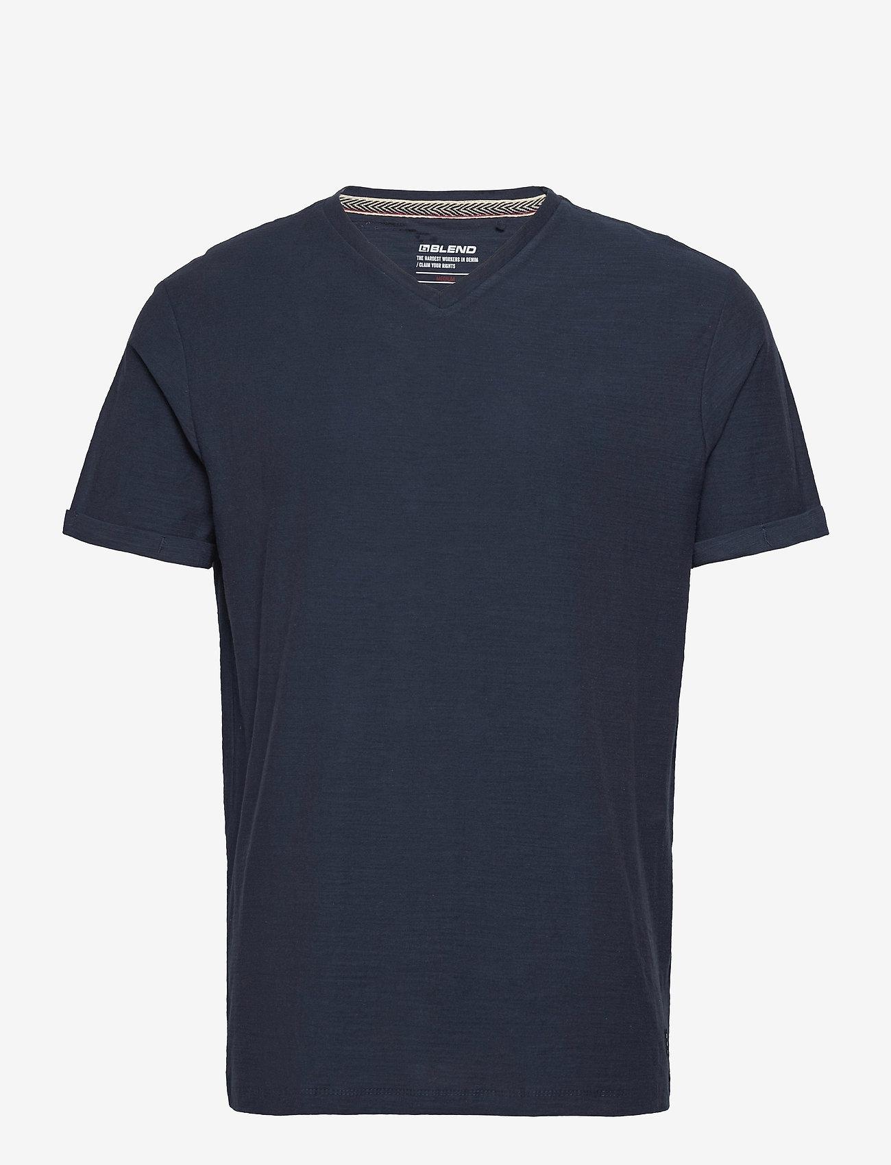 Blend - Tee - basic t-shirts - dress blues - 0