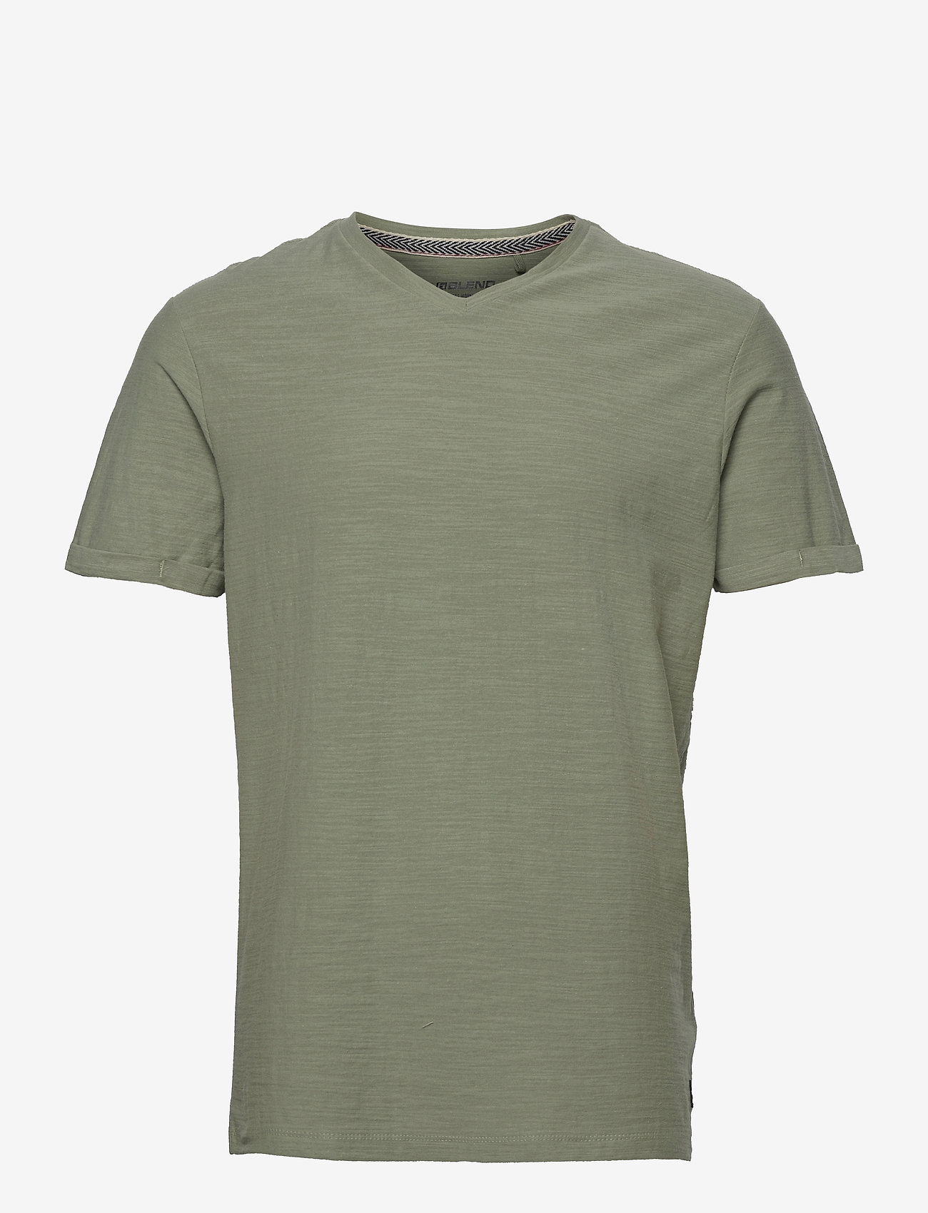 Blend - Tee - basic t-shirts - oil green - 0