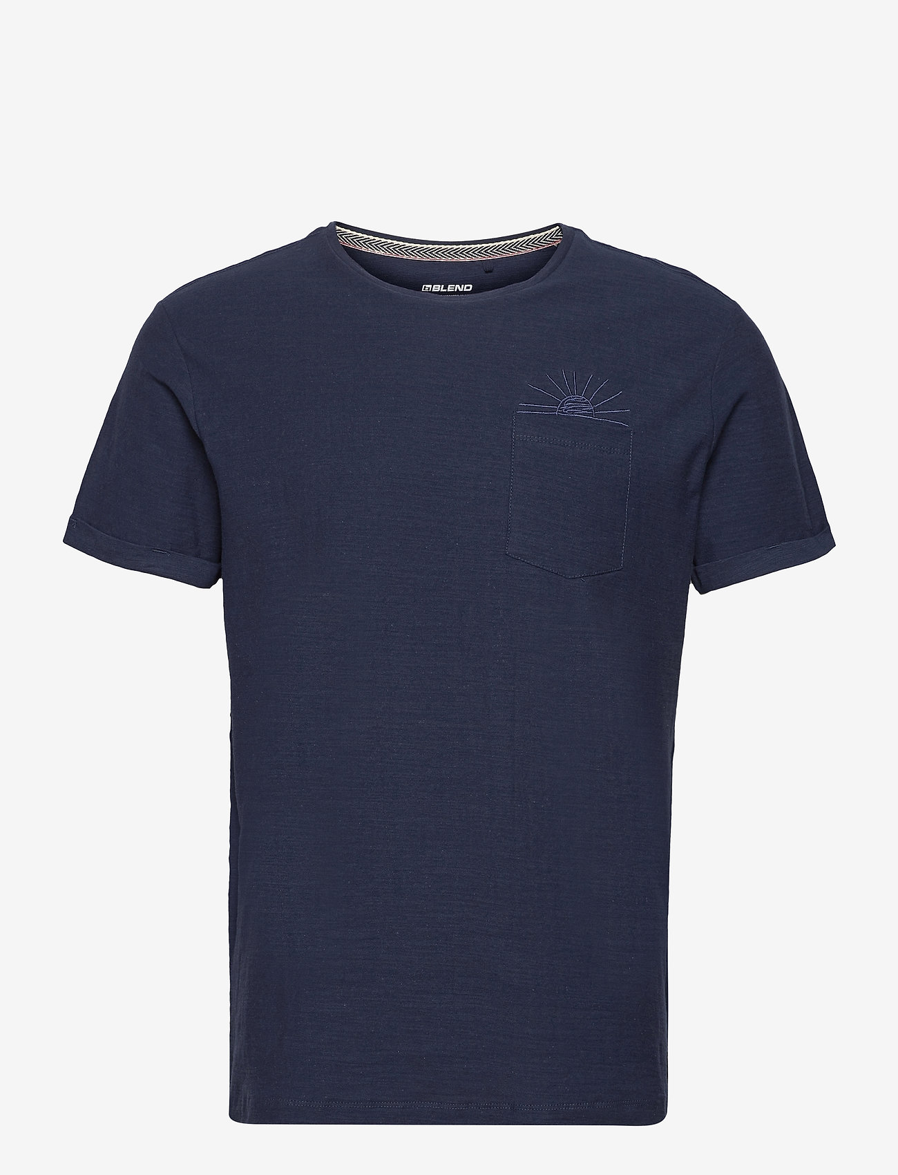 Blend - Tee - basic t-shirts - dress blues - 0