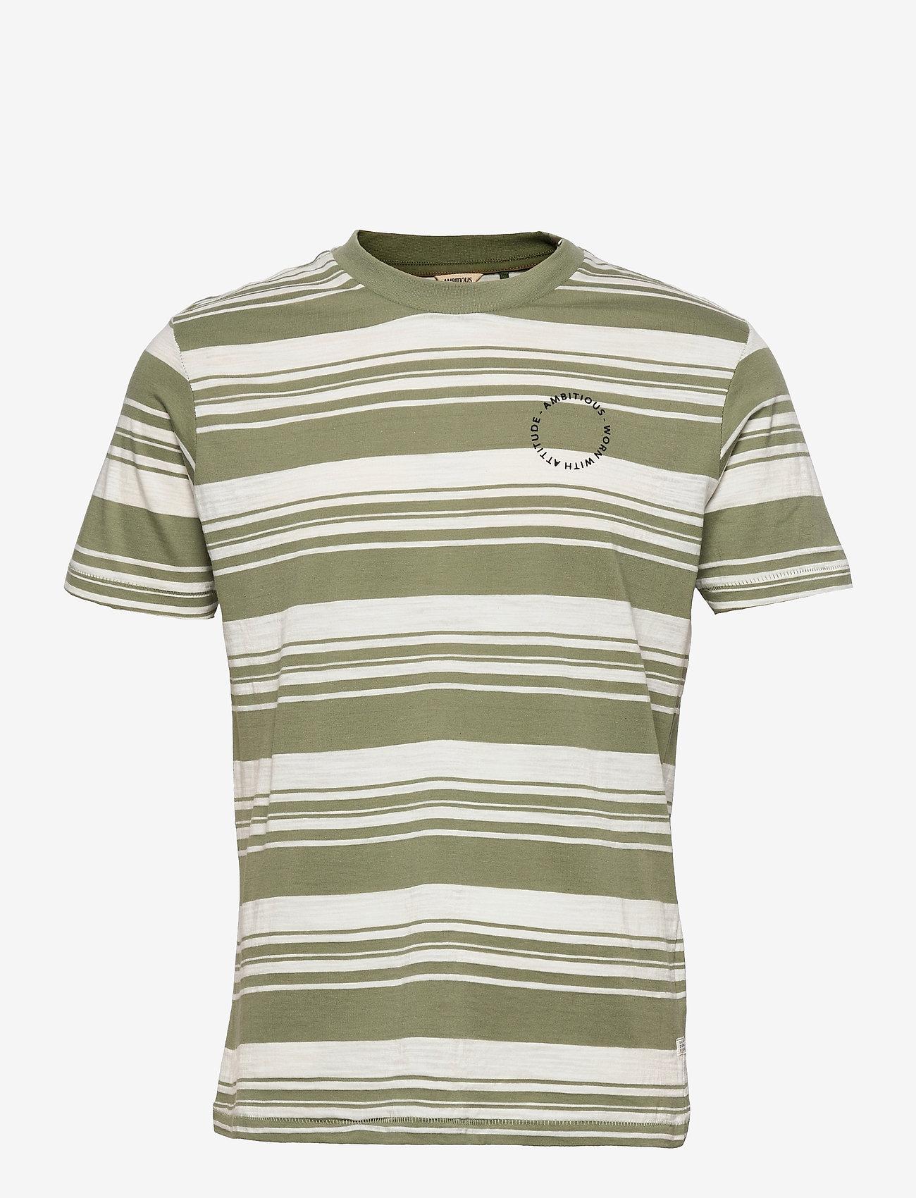 Blend - Tee Ambitious Regular fit - t-shirts à manches courtes - oil green - 0
