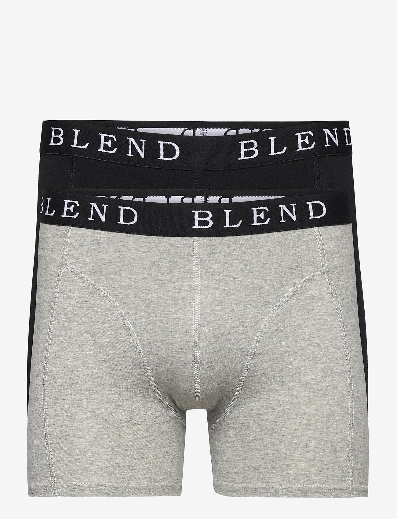 Blend - BHNED underwear 2-pack - bokserit - black/stone mix - 0