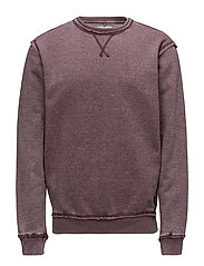 Sweatshirt - DEEP RED