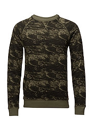 Sweatshirt - BURNT OLIVE