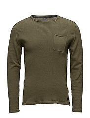 Pullover - BURNT OLIVE