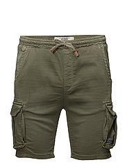 Jogg denim shorts - DUSTY OLIVE GREEN