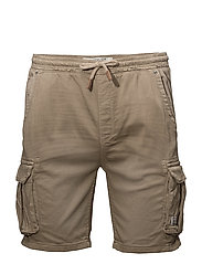 Jogg denim shorts - SAFARI BROWN