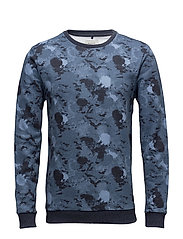 Sweatshirt - MOOD INDIGO BLUE