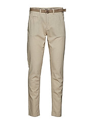 Pants w. belt - CLOUD GREY