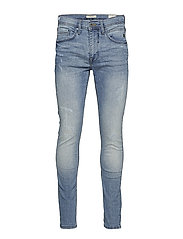 Jet fit w. destroy - NOOS Jeans - DENIM LIGHTBLUE
