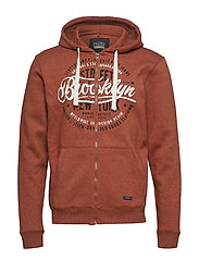 Sweatshirt - RUST ORANGE