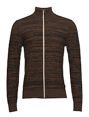 Cardigan - MUD BROWN