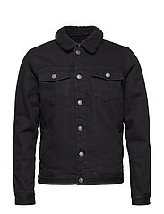 Denim Jacket - SOLID BLACK