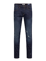 Jet fit - Scratches - DENIM DARK BLUE
