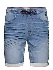 Denim Jogg shorts - DENIM MIDDLE BLUE