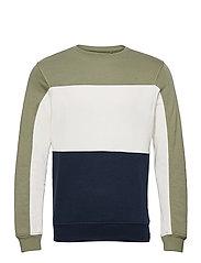 Sweatshirt - OIL GREEN