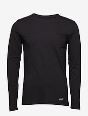 Blend - BHNICOLAI tee l.s. NOOS - basic t-shirts - black - 0