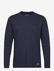 Blend - BHNICOLAI tee l.s. NOOS - t-shirts basiques - navy - 0