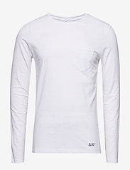 Blend - BHNICOLAI tee l.s. NOOS - basic t-shirts - white - 0