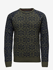 Blend - Pullover - pulls col rond - beetle green - 0