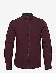 Blend - BHNAIL shirt Slim Fit - chemises basiques - tawny port - 0