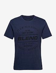 Blend - Tee - krótki rękaw - dark denim - 0