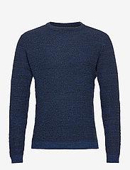 Blend - Pullover - stickade basplagg - dark navy - 0