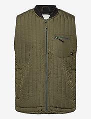 Blend - Outerwear - vests - dusty olive - 0