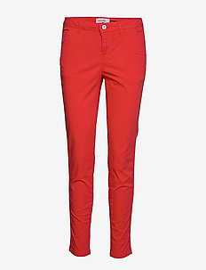 bspeggy Casual ch - straight leg trousers - flame scarlet