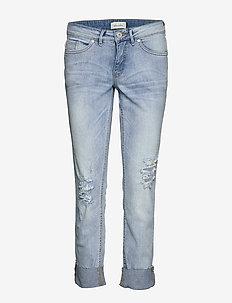 bseda Casual crop jeans - BLEACHED LG. BLUE