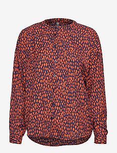BSWINNIE L SH - long sleeved blouses - peacoat
