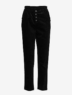 BSSINIKA R PA - straight leg trousers - black