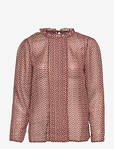BSSANDY R BL - long sleeved blouses - fired brick