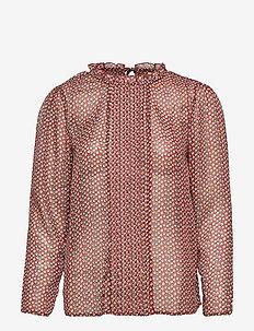 BSSANDY R BL - bluzki z długimi rękawami - fired brick